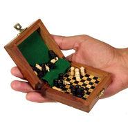 AVM 3inch Travelling Chess Board (0.5 inch Border, Black Yellow)