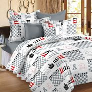 Storyathome 100% Cotton Double Bedsheet With 2 Pillow Cover-CN1229