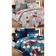 Set Of 2 Double Bedsheet With 4 Pillow Cover-CN_1256-CN1206