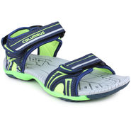 Pede Milan Synthetic Leather Blue & Green Floater -AB-6002