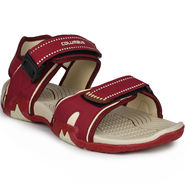 Columbus Synthetic Leather Maroon & Cream Floater -AB-774