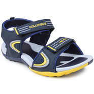 Columbus Synthetic Leather Blue & Yellow Floater -AB-777