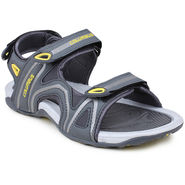 Columbus Synthetic Leather Grey & Yellow Floater -AB-932