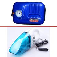 Combo of Vacuum cleaner + Air Compressor Blue