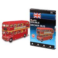 Cubic Fun 66pcs Mini Double Decker Bus Paper 3D Jigsaw Puzzle