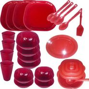 Cutting EDGE 25 Pc Microwaveable Designer Dinner Set Square-1