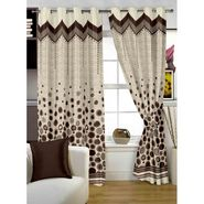 Story @ Home Brown Jacquard 1 pc Door curtain-7 feet-DBR4017