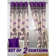 Set of 2 Printed Door curtain-7 feet-DBR_2_4022
