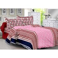 Valtellina 100% Cotton Double Bedsheet with 2 Pillow Cover-6003-D