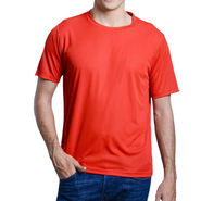 Oh Fish Plain Round Neck Tshirt_Df1red - Red