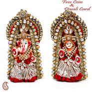 Artistic Kundan Studded Laxmi Ganesh for Diwali