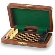 Little India Travellers Mini Chess Board Wooden Handicraft -114
