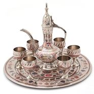 Little India Pure Brass Antique Royal Wine Set Handicraft -155