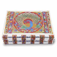 Little India Metal Colorful Meenakari Work Jewellery Box -174