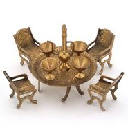 Little India Unique Design Dining Table Chair Maharaja Set -196