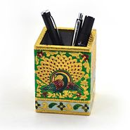 Little India Oxidized Jaipuri Fine Meenakari Work Pen Stand 288