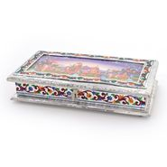 Little India Decorative White Metal 3 Partitions Dryfruit Box 302