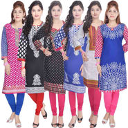 Combo of 6 Cotton Printed Kurti -DLI6KCO603