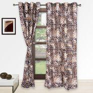 Story @ Home Maroon 2 pc Door curtain-7 feet-DNR2077