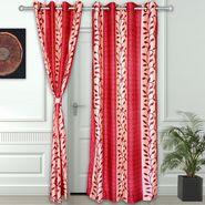 Story @ Home Maroon 2 pc Door curtain-7 feet-DNR3015