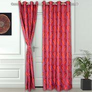 Story @ Home Maroon 2 pc Door curtain-7 feet-DNR3025