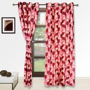 Story @ Home Red 2 pc Door curtain-7 feet-DNR3062