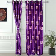 Story @ Home Purple 2 pc Door curtain-7 feet-DNR3070