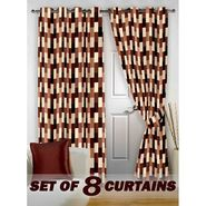 Set of 8 Printed Door curtain-7 feet-DNR_4_3051