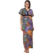 Fasense Shinker Cotton Printed Long Nighty -DP189A2