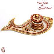 Aapno Rajasthan Multicolor Terracotta Musical Ganesh Sabha Showpiece