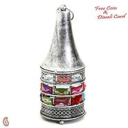 Conical Gun Metal Tea Light Holder with Rosy Silver Finish