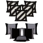 Dekor World Double Side Cushion Cover-Set of 10 Pcs-DWCB-139