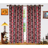 Dekor World Circle Bonanza Window Curtain- Set Of 2 -DWCT-462-5