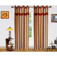 Dekor World Ultimate Stripes Window Curtain-Set of 2 -DWCT-477-5