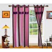 Dekor World Ultimate Stripes Window Curtain-Set of 2 -DWCT-480-5