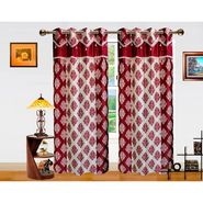 Dekor World Double Damask Lace Window Curtain-Set of 2 -DWCT-715-5