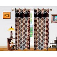 Dekor World Double Damask Lace Window Curtain-Set of 2 -DWCT-716-5