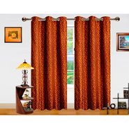 Dekor World Sprial Altra Window Curtain-Set of 2 -DWCT-719-5