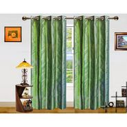 Dekor World Stripe Bonanza Window Curtain-Set of 2 Pcs-DWCT-870-5