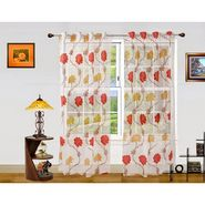 Dekor World Net Floral Window Curtain (Pack of 2)-DWCT-904-5
