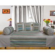 Dekor World Multi Stripe Diwan Set-Pack of 6 Pcs-DWDS-098