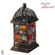 Oxidized Metal Pooja Thali with Ganesh & Floral Motifs