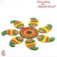 Aapno Rajasthan Beautiful Paisley Design Rangoli Decorative Platter