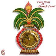 Kalash Wall Clock in Rajasthani clay and wood craft