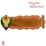 Aapno Rajasthan Shree Ganesh Name Board with wood and clay art work