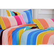 4D Printed  Double Bed Sheet With 2 Pillow Cover- DY-030
