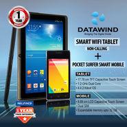 Datawind Smart WiFi Tablet - Non Calling + Pocket Surfer Smart Mobile