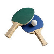 Pair Of Beginner Table Tennis Racquets - 2 Racquet,Balls