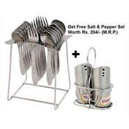 Elegante' 18 Pcs. Jasmine Cutlery Set + Free 1 Set Salt & Pepper Set EHPEJASMINSNP0036