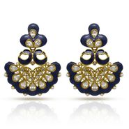 Branded Gold Plated Artificial Earrings_Er30042gblu
